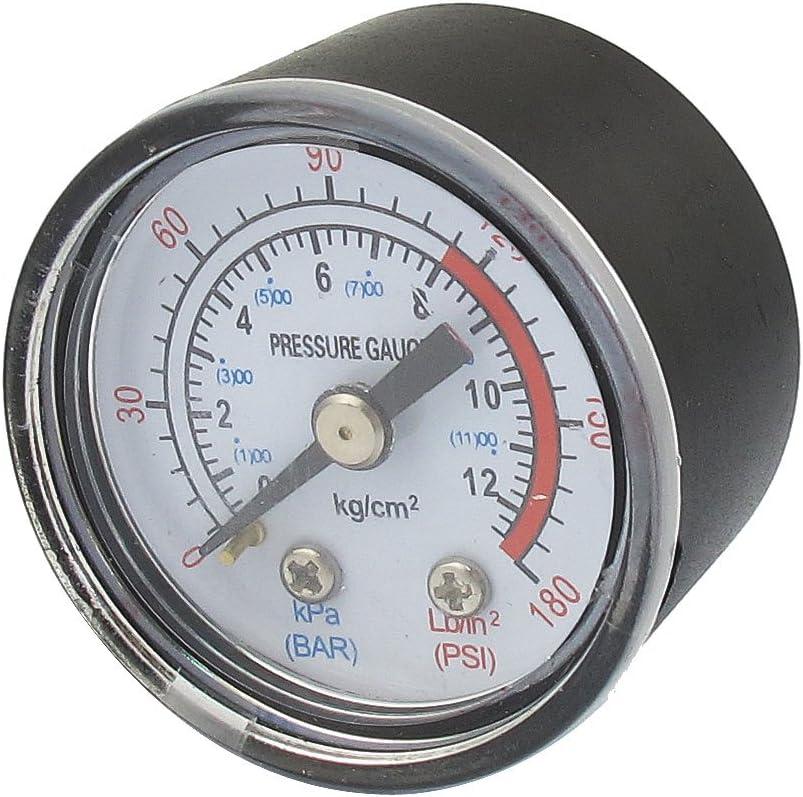 Negro 0-180 Psi 0-12 Barra 0.3cmPT Instalar Rosca Gasolina Manómetro
