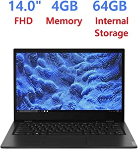 "Newest_Lenovo Thin and Light Laptop PC 14"" FHD Anti-Glare Display, AMD Dual Core A6-9220C, 4GB RAM, 64GB eMMC, WiFi, Bluetooth, HD Webcam, HDMI, USB-C, Windows 10 Pro"