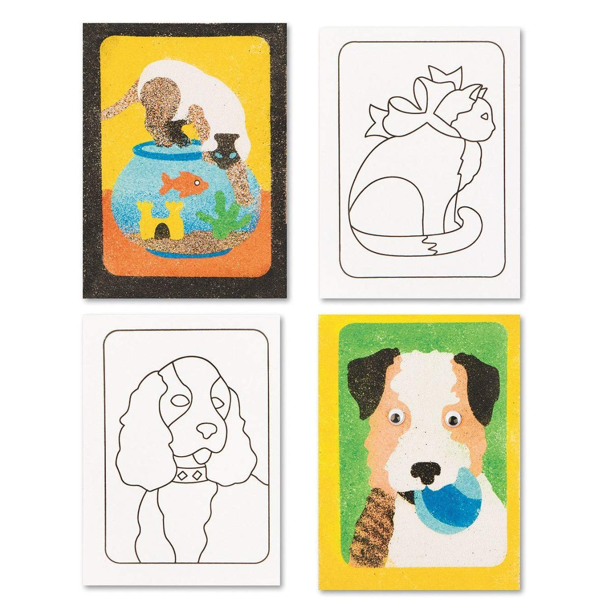 Sand Art Boards 5x7 - Dogs & Cats S&S WORLDWIDE CF-1442