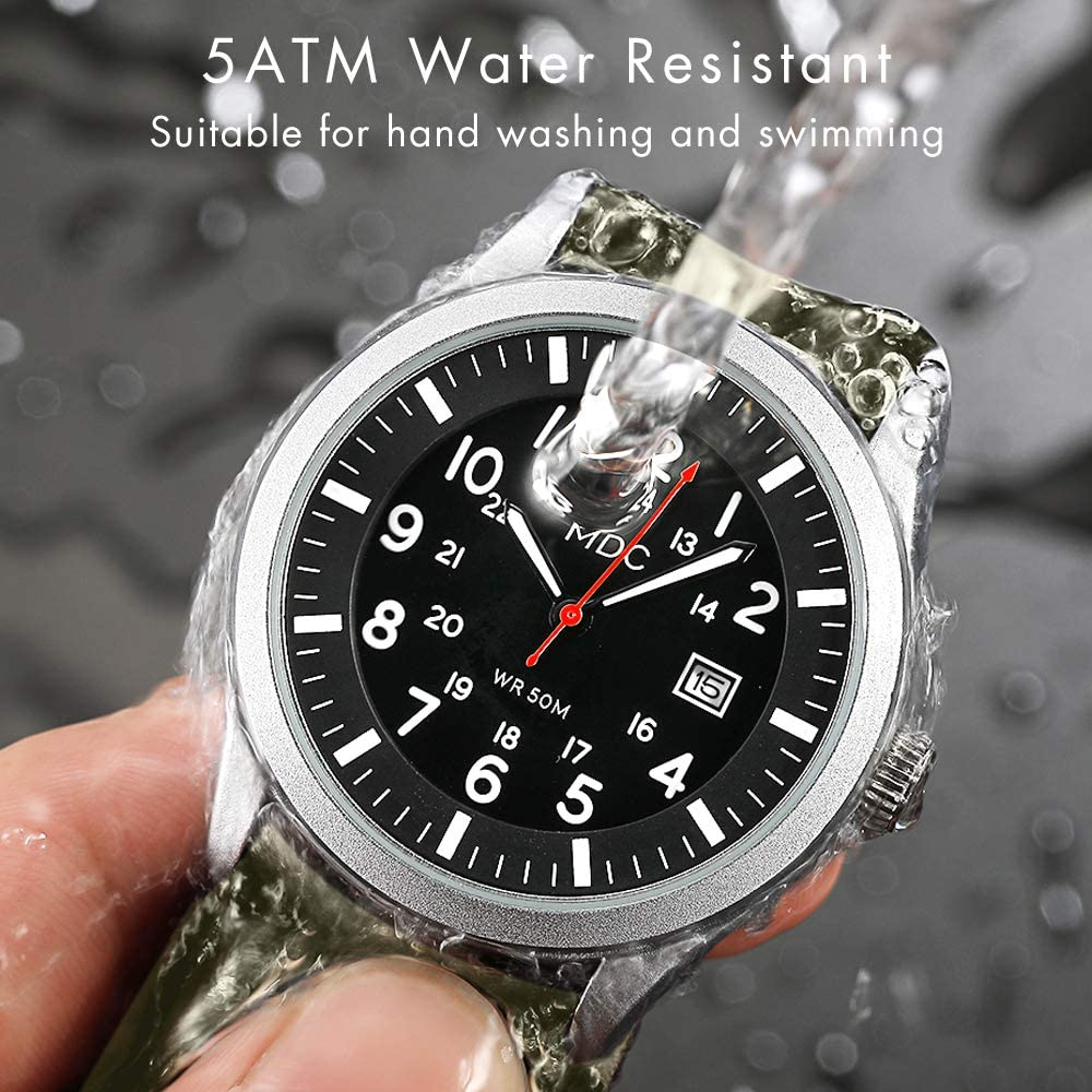 Military Analog Wrist Watch for Men, Mens Army Tactical Field Sport Watches Work Watch, Outdoor Casual Quartz Wristwatch – Imported Japanese Movement, 5ATM Waterproof