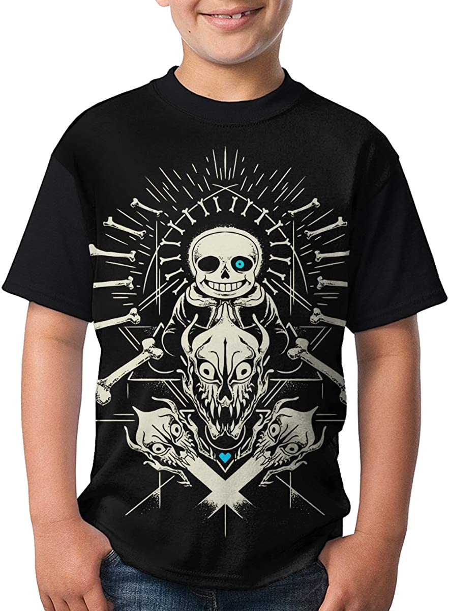 Undertale T Shirts Youth Short Sleeve Casual T-Shirts Tops for Boy Girl