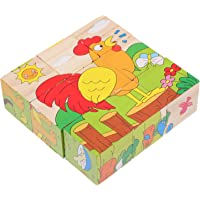 TOYANDONA 3D Houten Jigsaws Puzzels Boerderij Dieren Puzzels Speelgoed Kids Peuter Vierkante Puzzel Veilig Onderwijs…