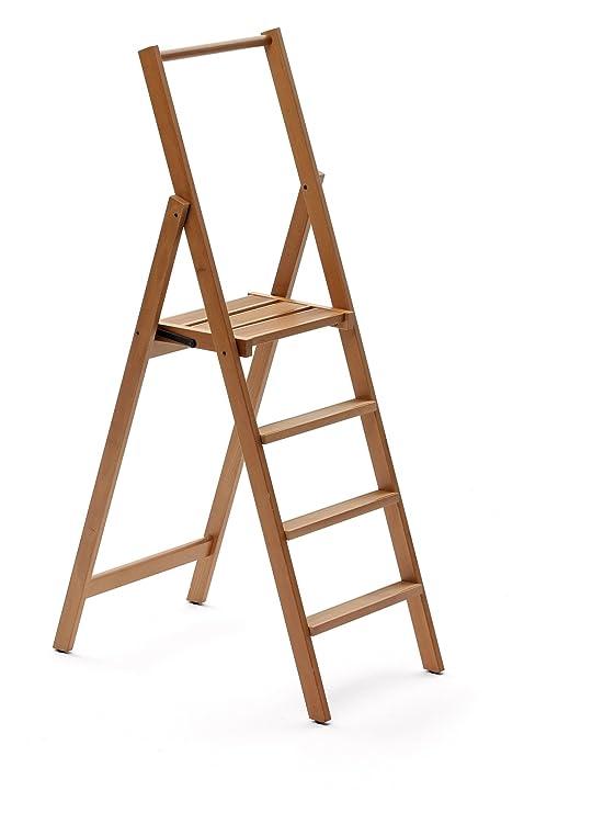 Arredamenti Italia Escalera 4 peldaños KIMORA, madera - Plegable - Color
