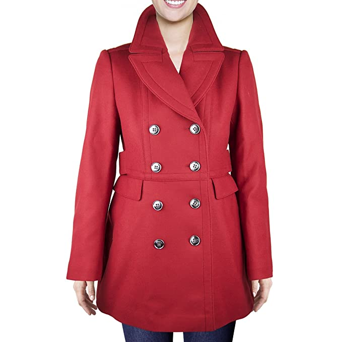 Burberry -Cappotto Donna Red 42  Amazon.it  Abbigliamento 85418fadbe6