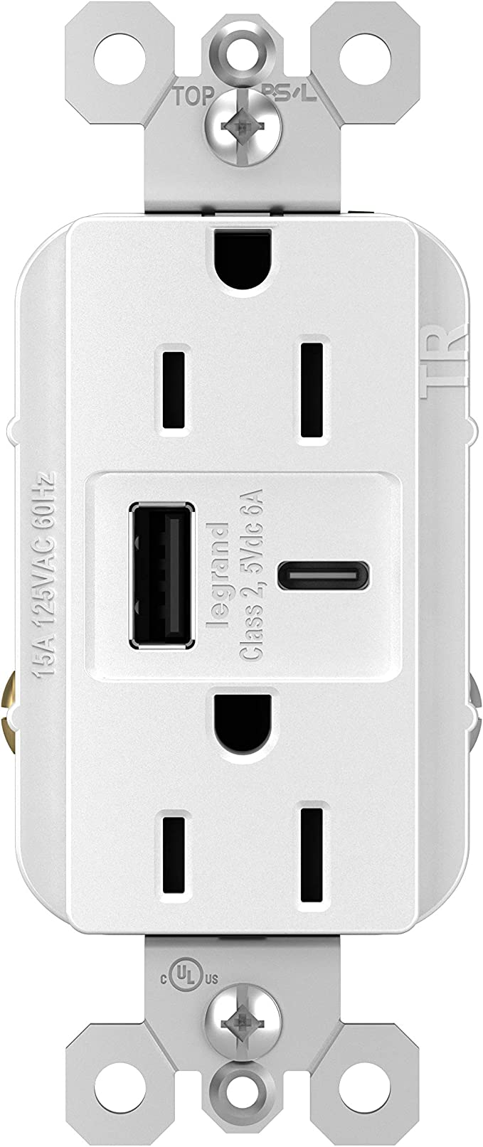 15a  type a c light almond Pass /& Seymour Commercial USB Charging Receptacle