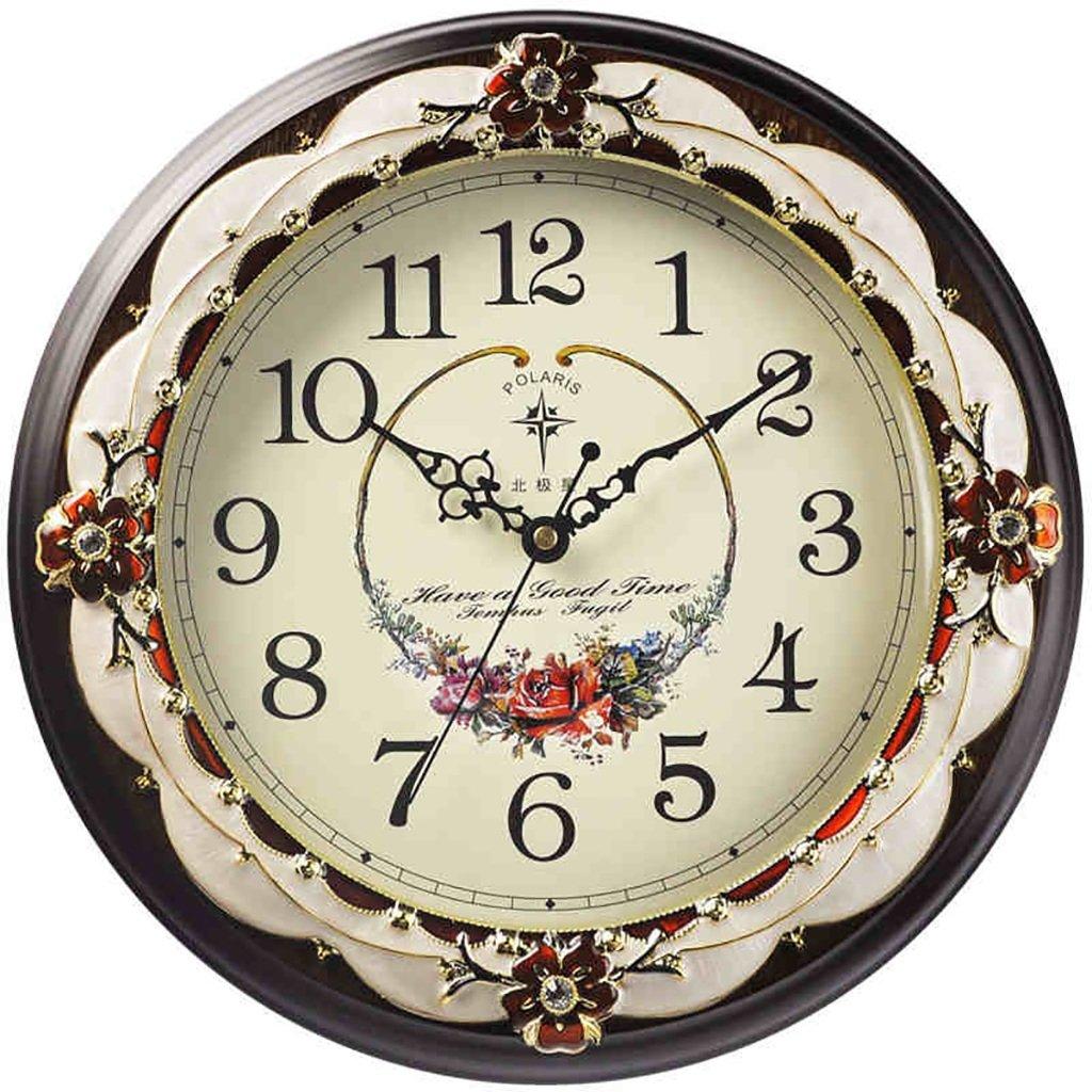 SESO UK- Design Moderne kreative wanduhr stumm Quarz Log clocks14 Zoll / 35,5 cm