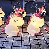 AceList Children's Room Cute Animal Pink Unicorn LED String Lights for Holiday Lights Wall Window Tree Decorative Lights…