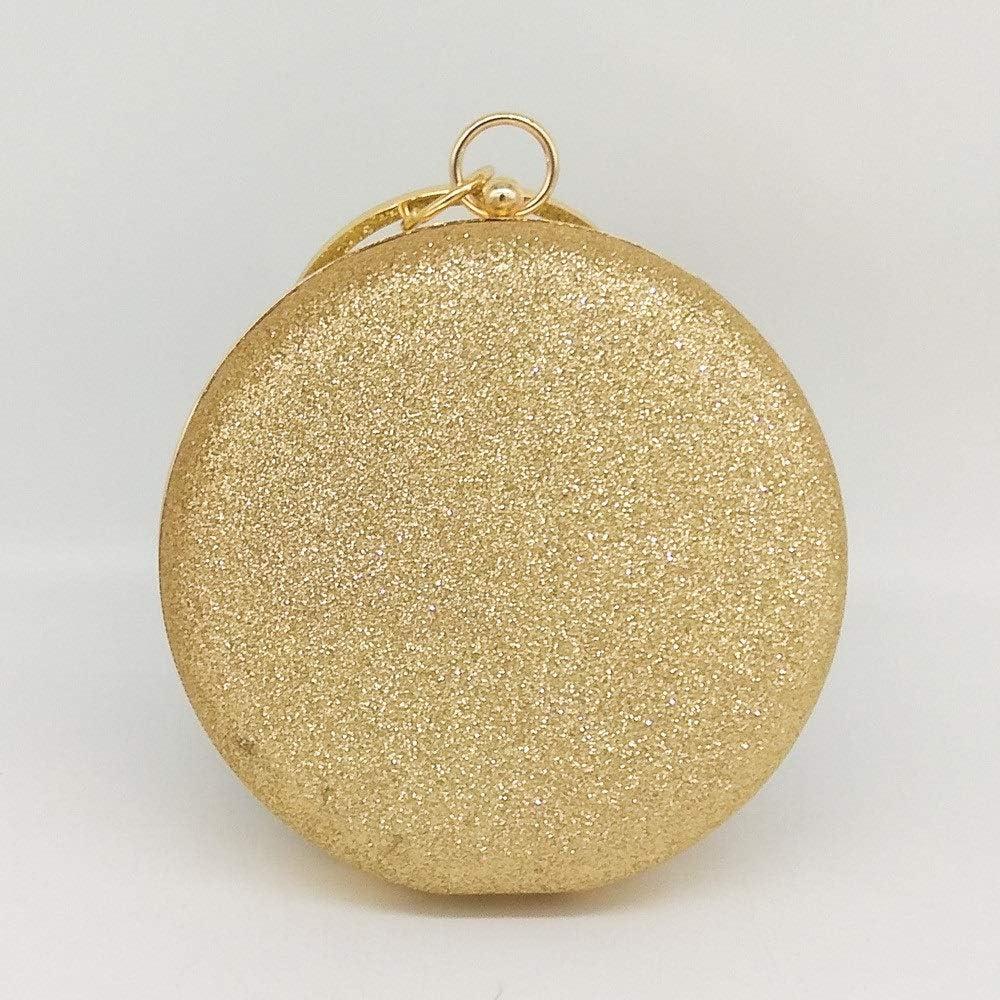 YaGFeng Pochette da Sera Femminile Palla Forma Frizione Borsa del Partito del Sacchetto di Sera di Promenade della Borsa di Spalla del Messaggero (Color : Gold) Gold