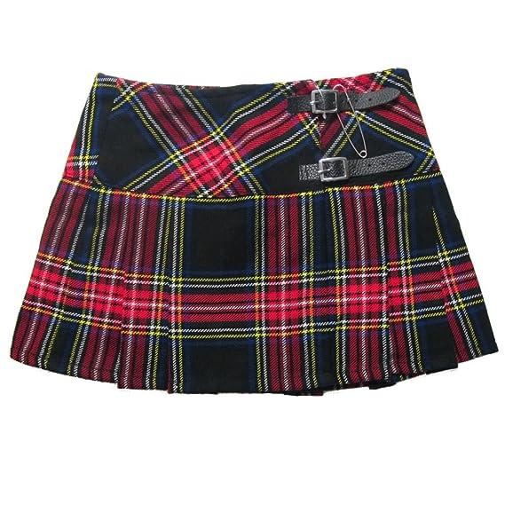 Mini jupe à carreaux - mini kilt écossais - style gothique punk - rouge et cabd265deab