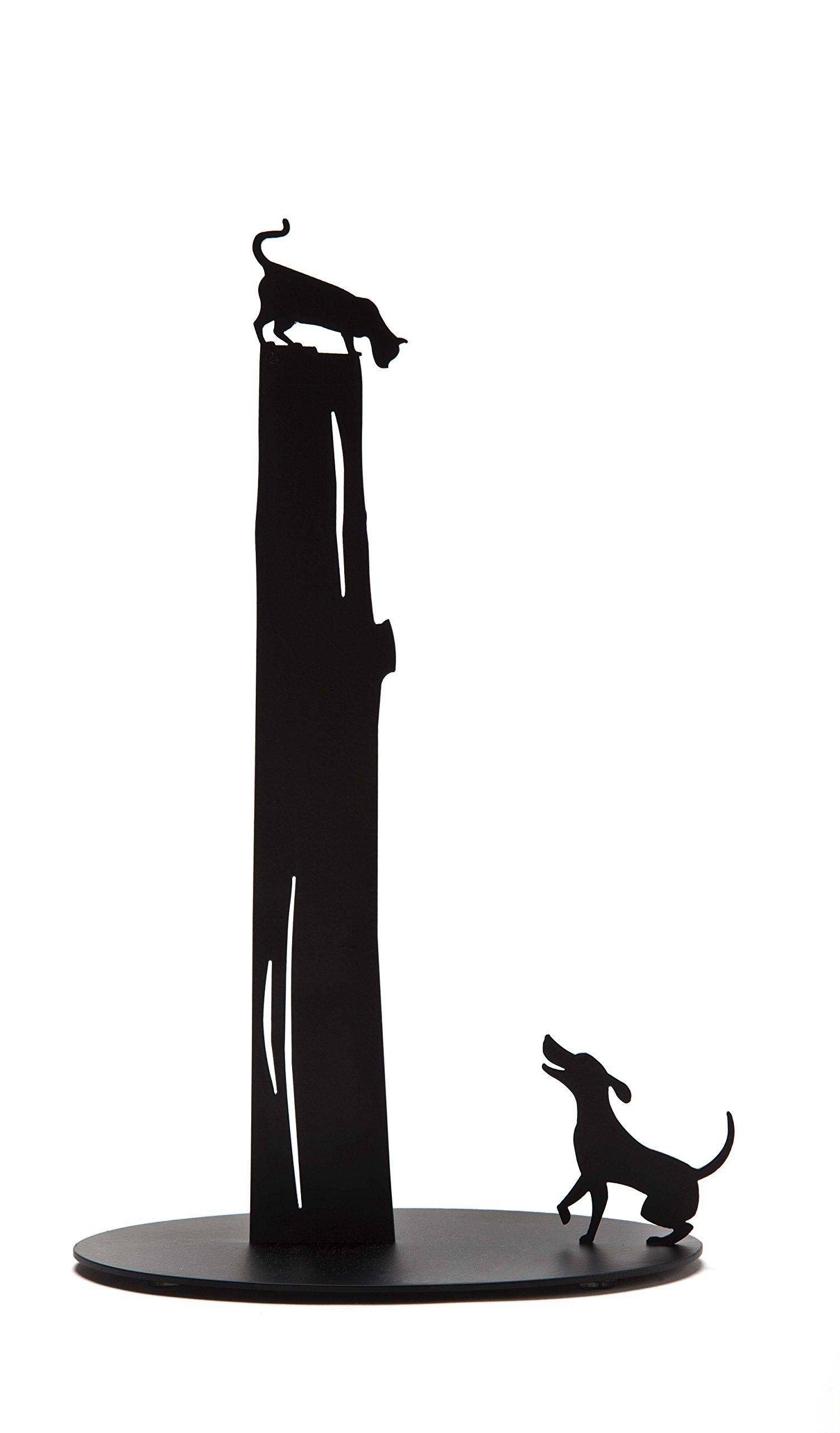 ARTORI Design Black Cat and Dog Paper Towel Stand Cute Design Rack by ARTORI Design