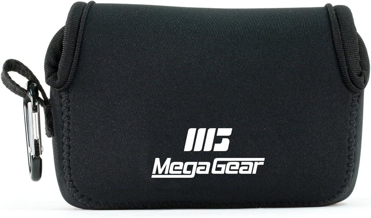 MegaGear MG1245 Canon PowerShot SX740 HS, SX730 HS, SX720 HS, SX710 HS, G16, G15 Estuche de cámara ultra ligero, de neopreno – Negro