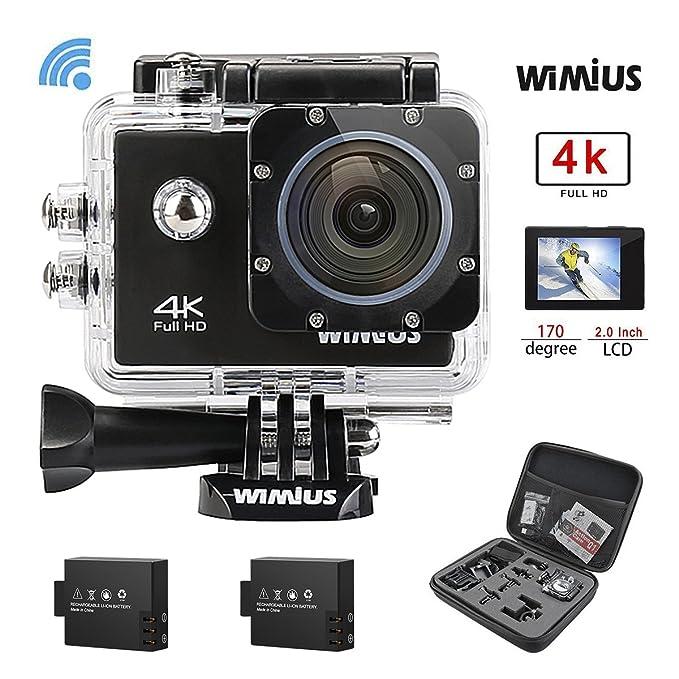 150 opinioni per Action Cam 4K, Wimius Sport Action Camera WIFI Full HD 16MP, Fotocamera