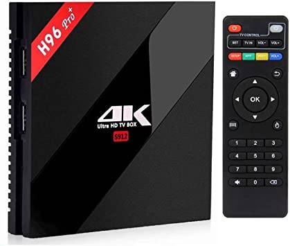 iBOYA Android Smart TV Box H96 Pro + Plus Android 7.1 2GB 16GB Amlogic S912 Octa Core 4K Reproductor WIFI TV Box: Amazon.es: Electrónica