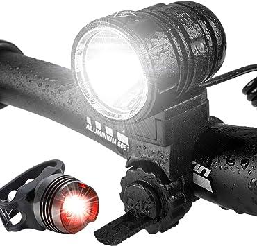 Luz Bicicleta, Kit de Luces LED Delanteras y Traseras de Bicicleta ...