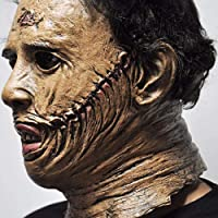 mengfanet Halloween Mask Halloween Mask Chainsaw Massacre Leatherface Masks Latex Scary Movie Halloween Cosplay Costume…