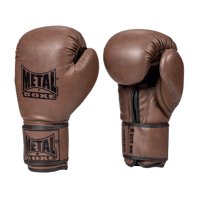 METAL BOXE Gants de Boxe Entrainement Marron