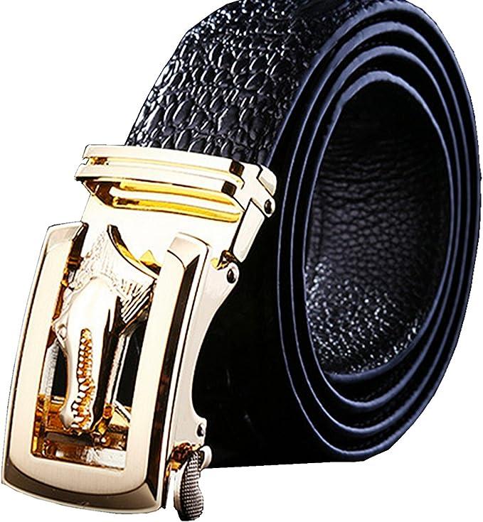 Amazon.com: Cinturones para hombre con dorado/plateado ...