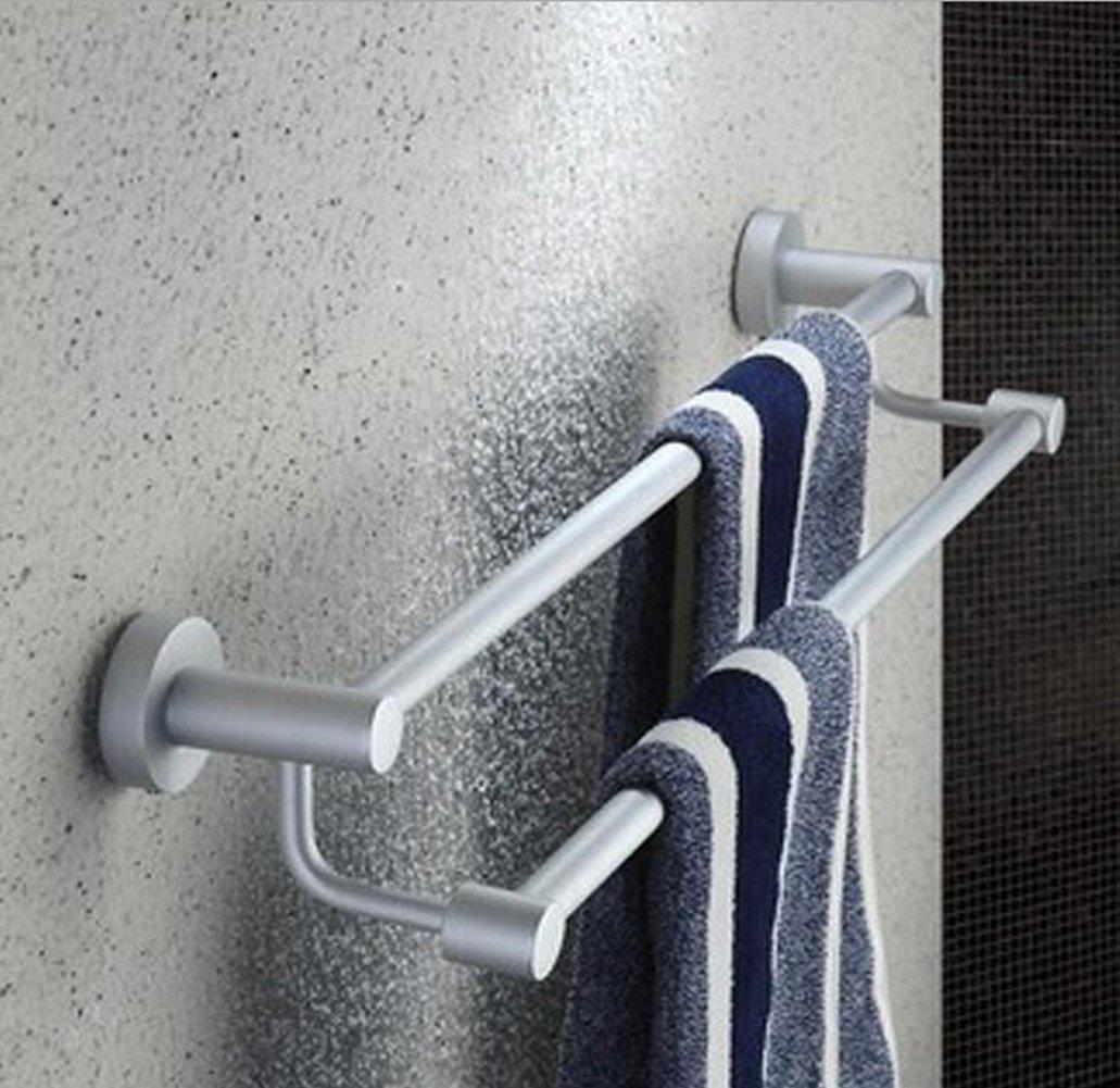 Space Aluminum 2-Tier Towel Rack Bathroom Accessories Towel Bar LingStar