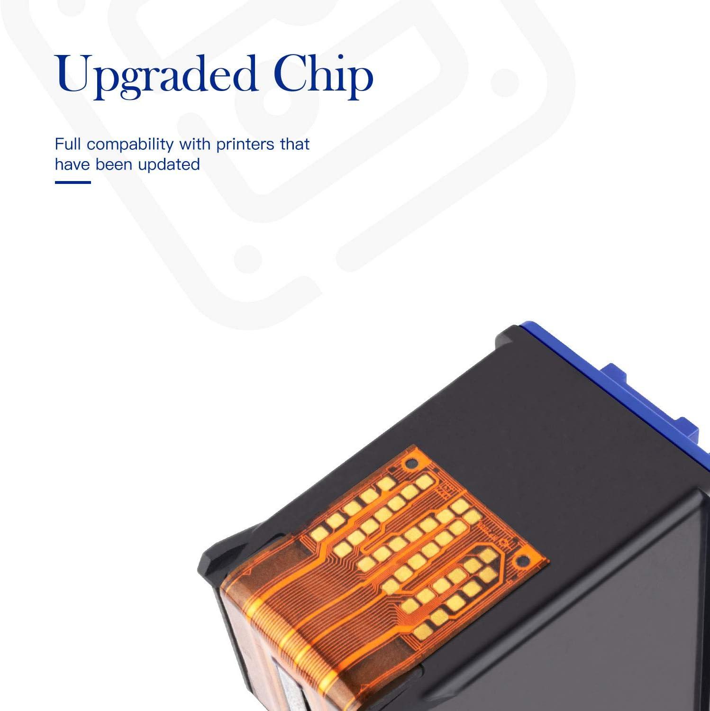 7 Inkjet Cartridges Replacement for HP C6658 Bulk: RC6658 5000s; Multi Color Ink Myriad Re-Manufactured Inkjet Cartridges 58; Models: Officejet 4000s
