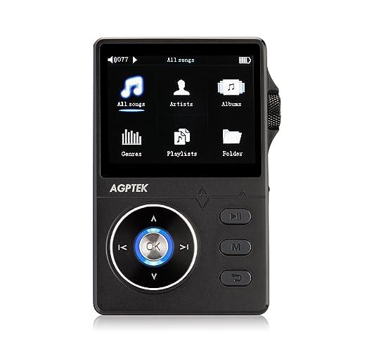 57 opinioni per AGPTek H1- metal Hi-Fi MP3 Lettore musicale 8 GB con 2,3 pollici TFT schermo,