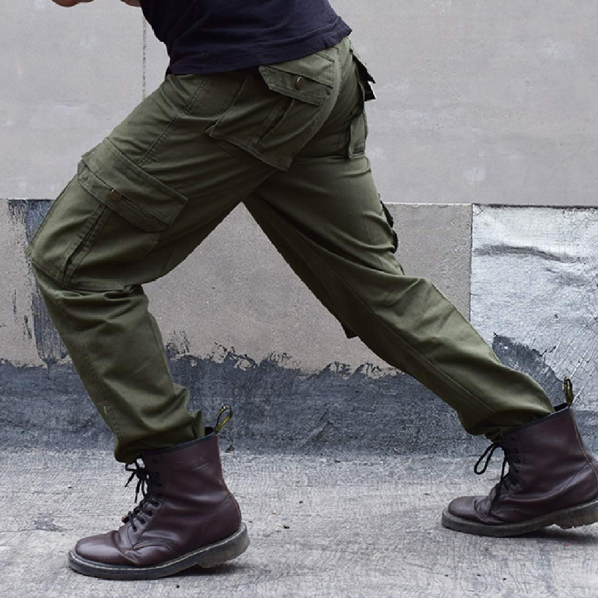 Andopa Mens Outwear Cotton Combat Straight Leg Cargo Combat Work Pants
