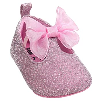 Chaussures de bébé Clode® Baby Girl Bowknot Leater Shoes Sneaker Prewalker  Sneakers (0~