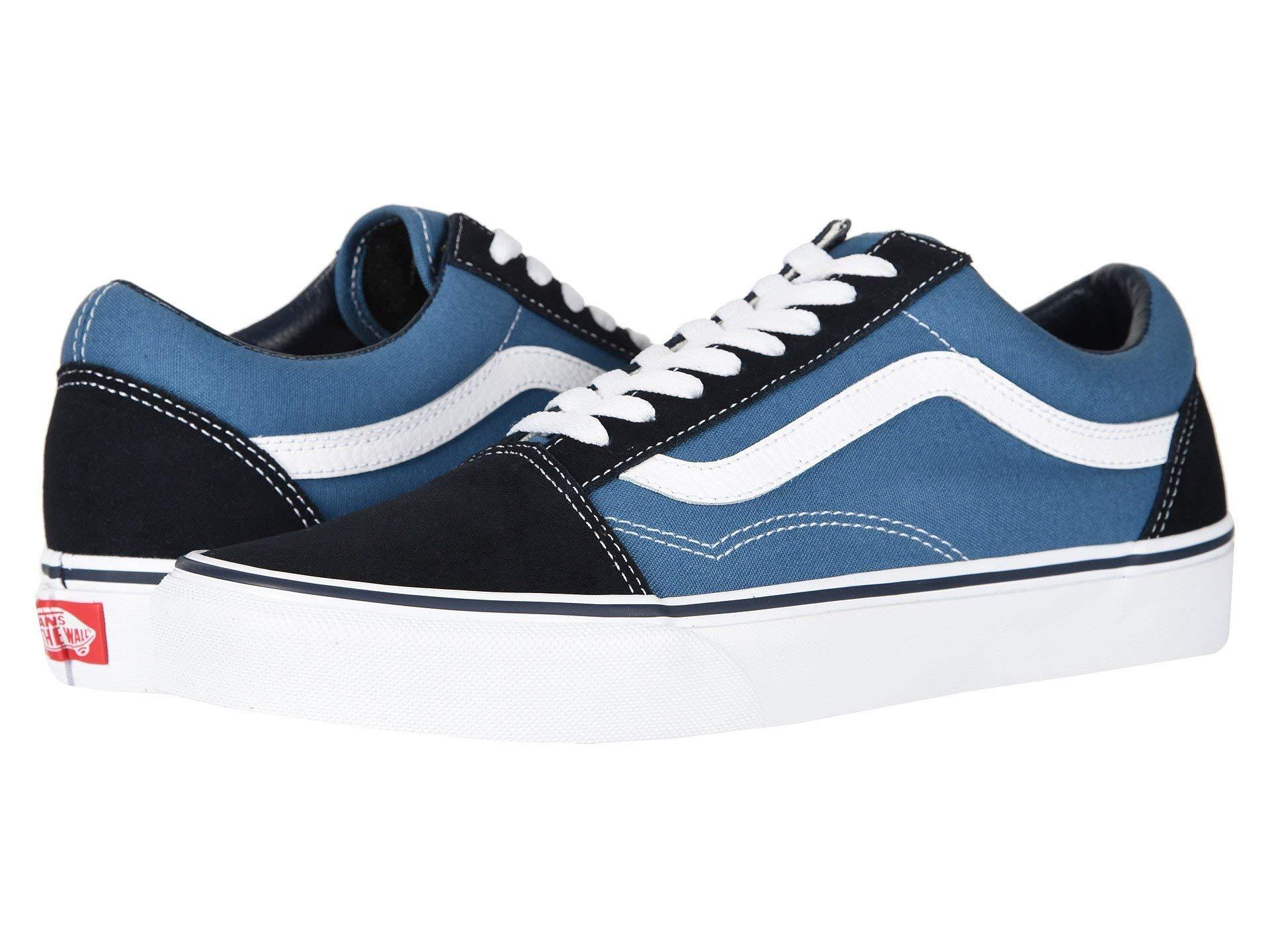 Vans Off The Wall Old Skool Sneakers (Navy) Men's Skateboarding Shoes by Vans (Image #1)