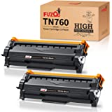 FUZOO Compatible TN760 Toner Replacement for Brother TN760 TN-760 TN730 High Yield with Chip for HL-L2350DW HL-L2390DW HL-L23