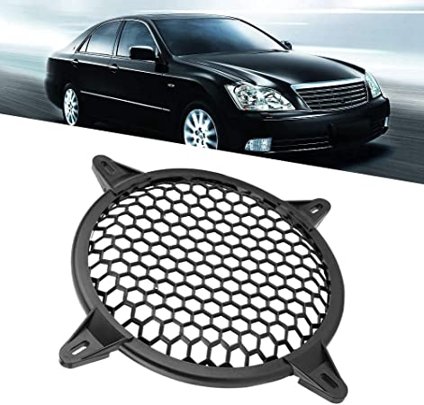 10inch Speaker Cover,Car Subwoofer Speaker Protecter Cover Car Audio Plastic Mesh Cover Woofer Speaker Modification Protect Guard Audio Parts
