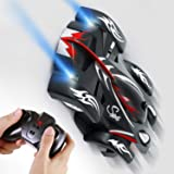 SGILE Remote Control Car Toy, Cool Rechargeable RC Wall Climber Car with Mini Control Dual Mode 360° Rotating Stunt Car LED Head Gravity-Defying[Copy Right Reserved]
