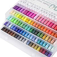 Rotuladores Doble Punta 100 Colores con rotuladores Punta Pincel acuarelables Marcadores Caligrafía Lettering