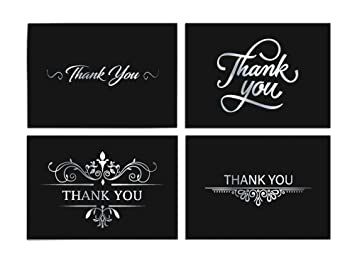 Amazon 100 thank you cards bulk blank note cards with 4x6 100 thank you cards bulk blank note cards with 4x6 envelopes and stickers black background reheart Images
