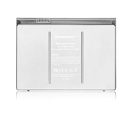 Nueva batería del ordenador portátil Runpower para Apple A1189 A1151 A1212 A1229 A1261 Macbook Pro 43 ...