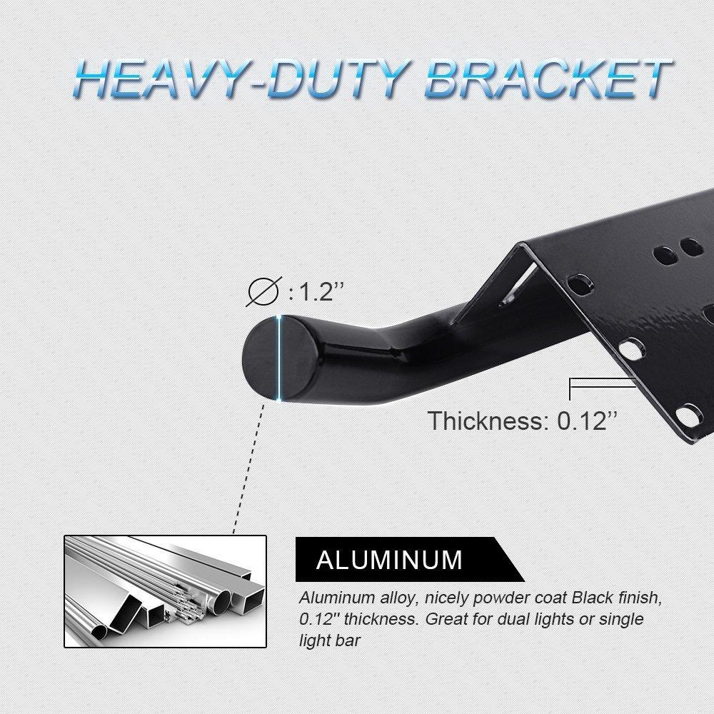 para coches color negro tractores camiones Mictuning Soporte universal para matr/ícula para matr/ícula aluminio todoterrenos veh/ículos de construcci/ón