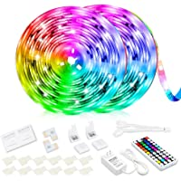 CNSUNWAY LED Strip Lights 10M, SMD 5050 RGB Color Changing Flexible LED Tape Light with 44 Keys Remote Control, Timing…