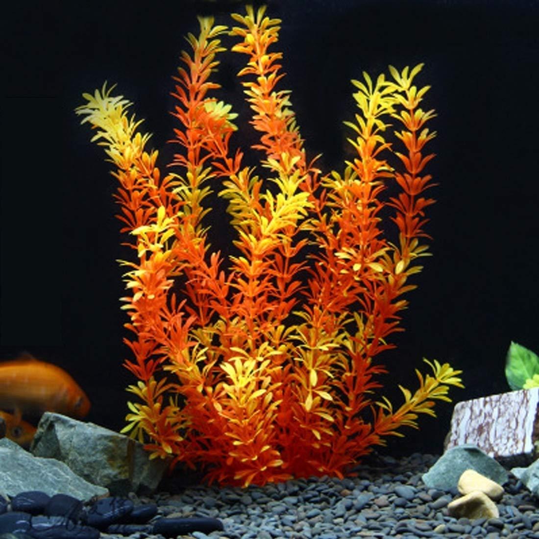 Perfect Home Artificial Tree Plant Grass Refinement Figurines Miniatures Aquarium Fish Tank Landscape, Size  22.0 x 40.0cm Durable