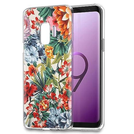 coque samsung s9 silicone fleur