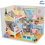 Kisoy Romantic and Cute Dollhouse Miniature DIY House Kit Creative Room Perfect DIY Gift for Friends,Lovers and Families(Dancing Youth)