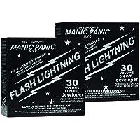 Manic Panic Flash Lightning Hair Bleach Kit (2-Pack) 30 Volume Cream Developer,...