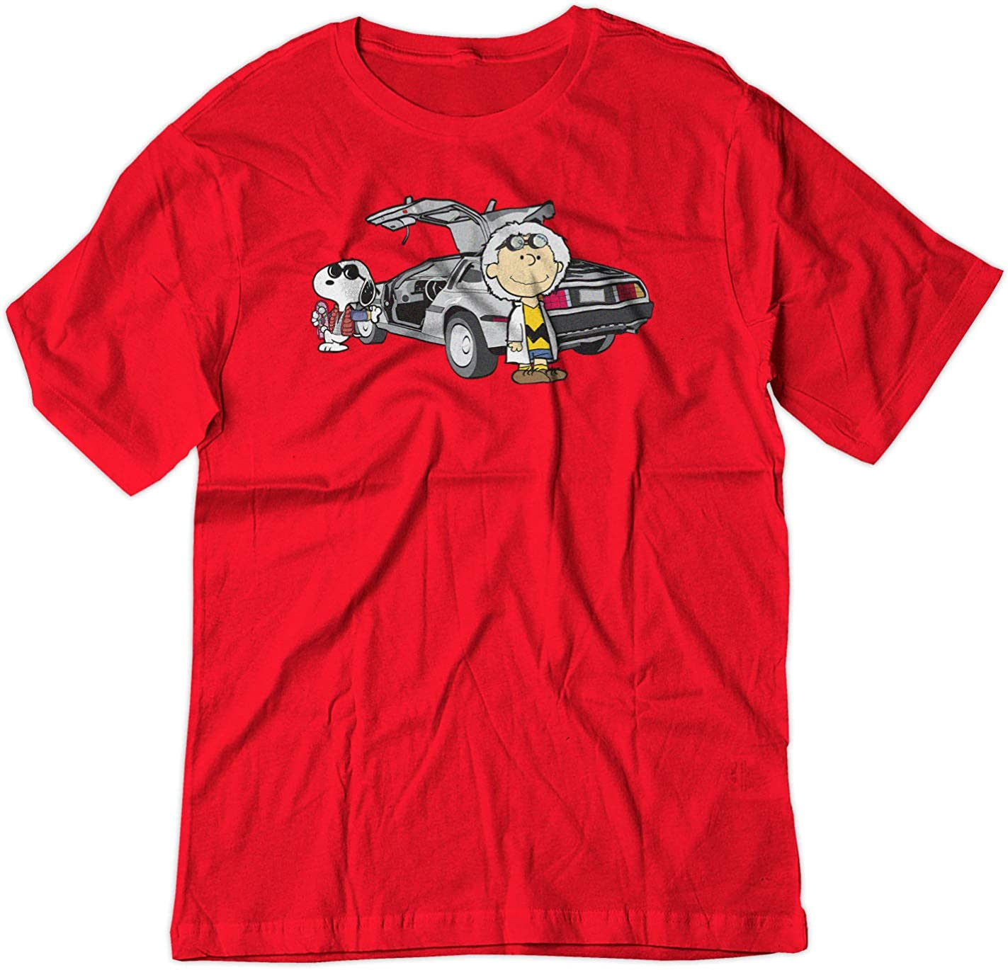 Back To The Future Charlie Brown Snoopy Shirt Red Sm