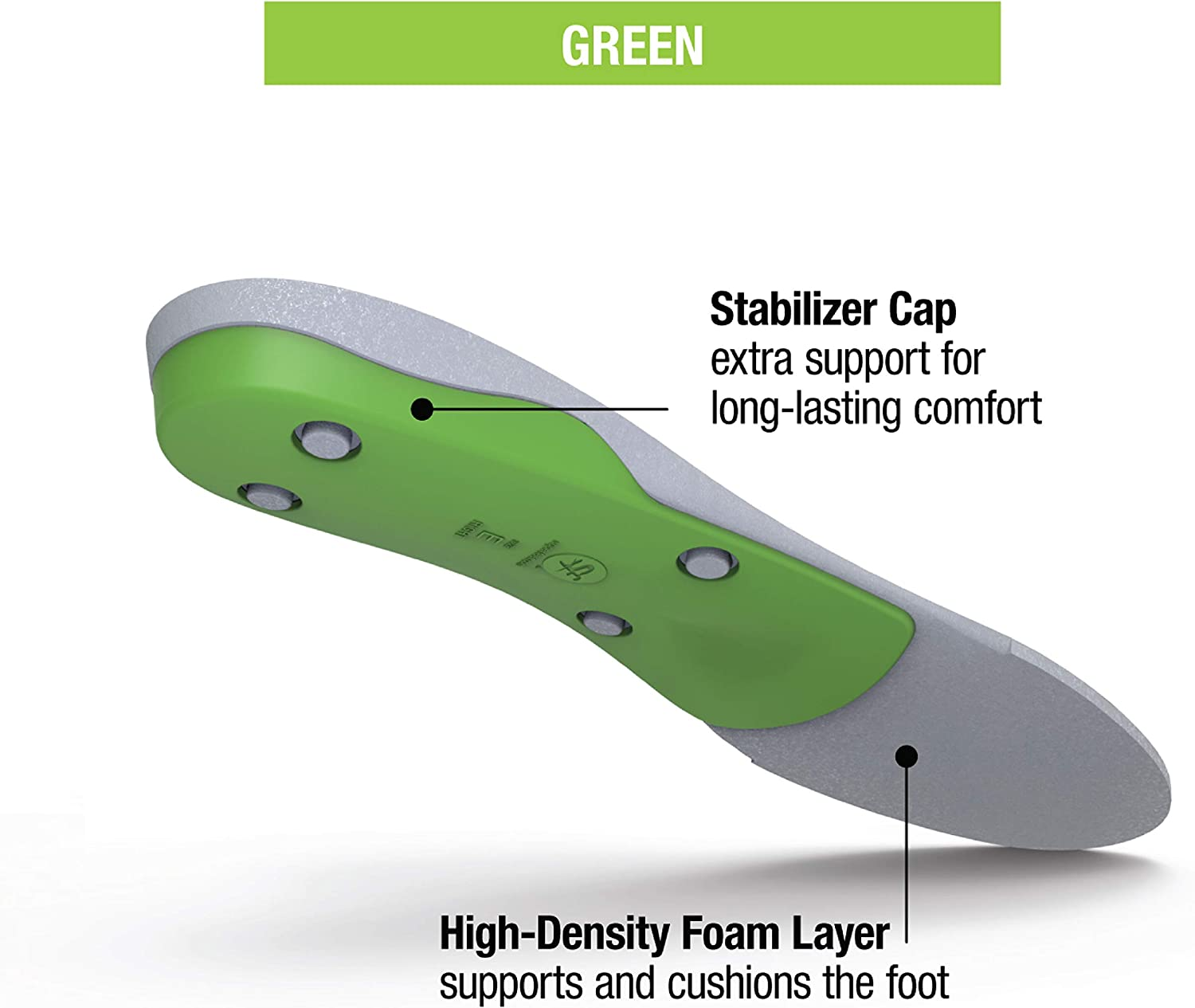 Superfeet GREEN Insoles, Professional-Grade High Arch Support, Orthotic Shoe Inserts for Maximum Support, Unisex, Green: Shoes