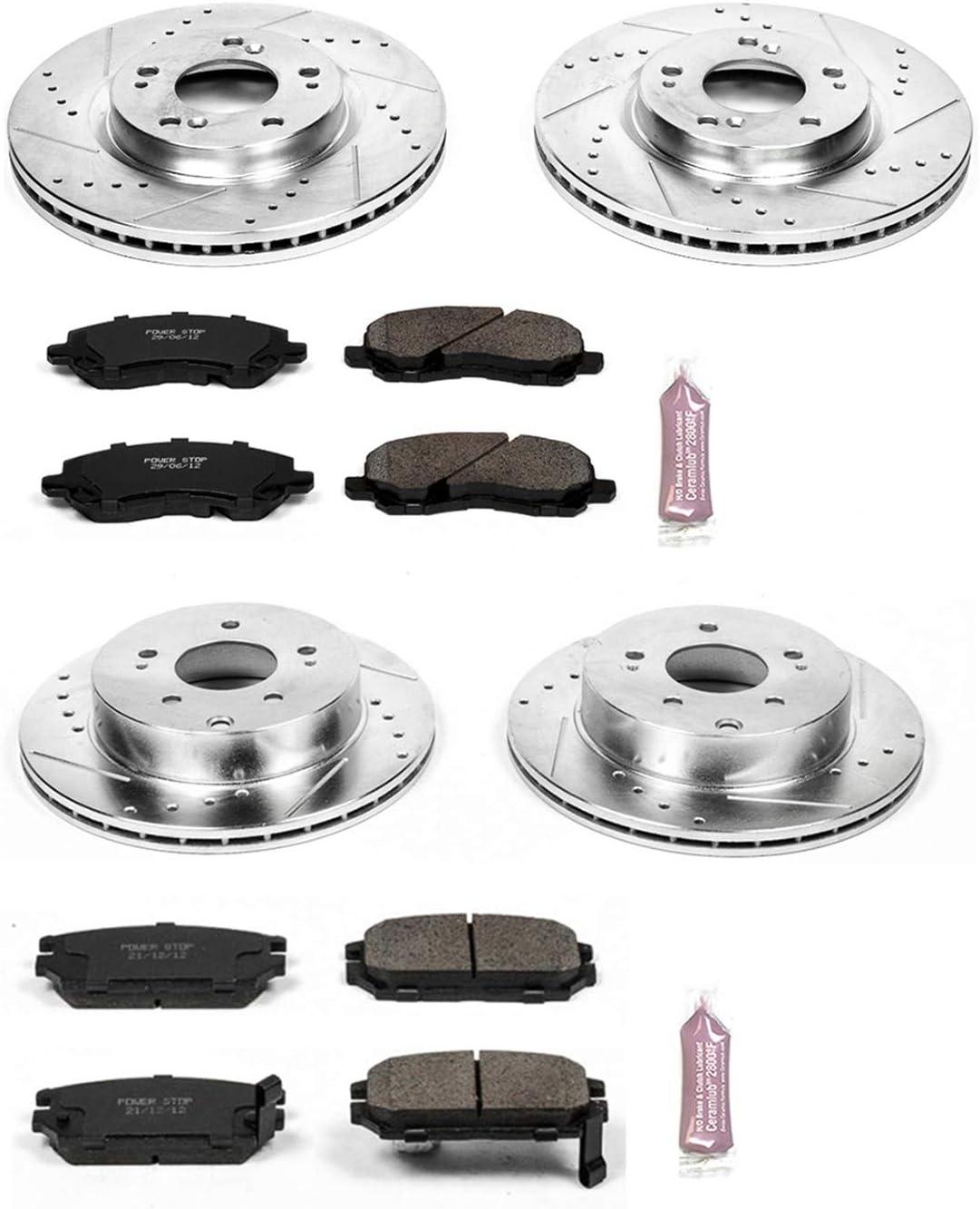Power Stop K094 Front Brake Kit with Drilled//Slotted Brake Rotors and Z23 Evolution Ceramic Brake Pads