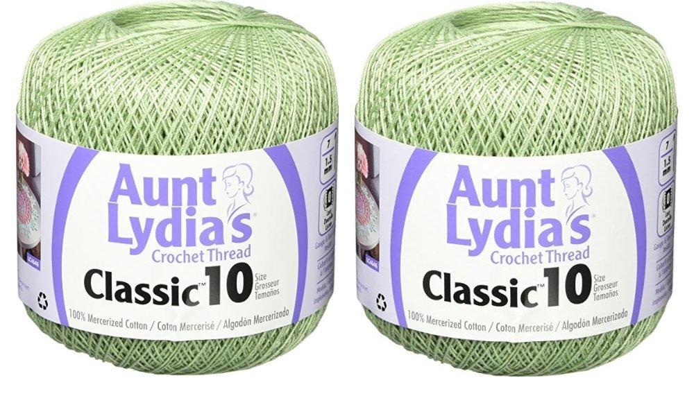 Aunt Lydia's Crochet Thread - Size 10 - Frosty Green (2-Pack)