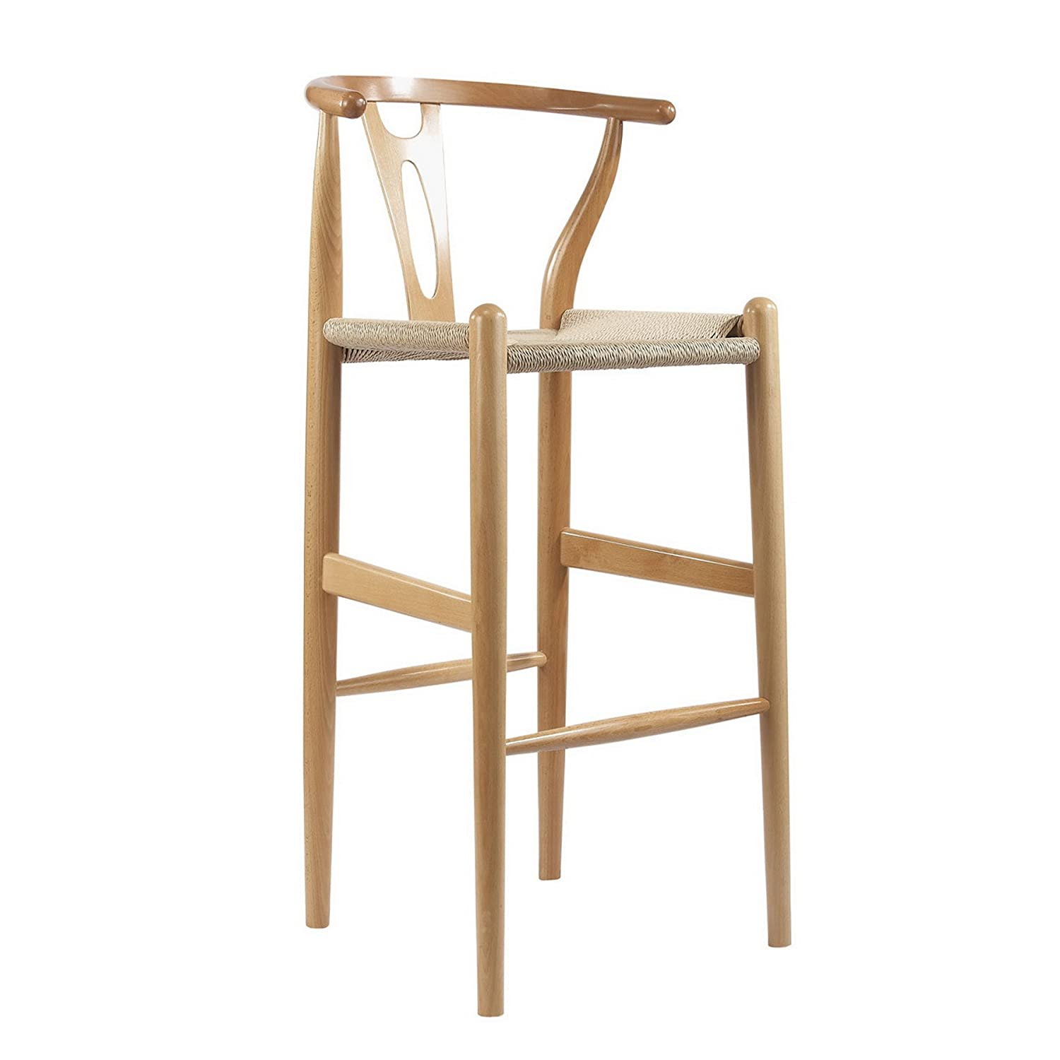Amazon.com Baxton Studio Mid-Century Modern Wishbone Wood-Y Stool Natural Kitchen u0026 Dining  sc 1 st  Amazon.com & Amazon.com: Baxton Studio Mid-Century Modern Wishbone Wood-Y Stool ... islam-shia.org