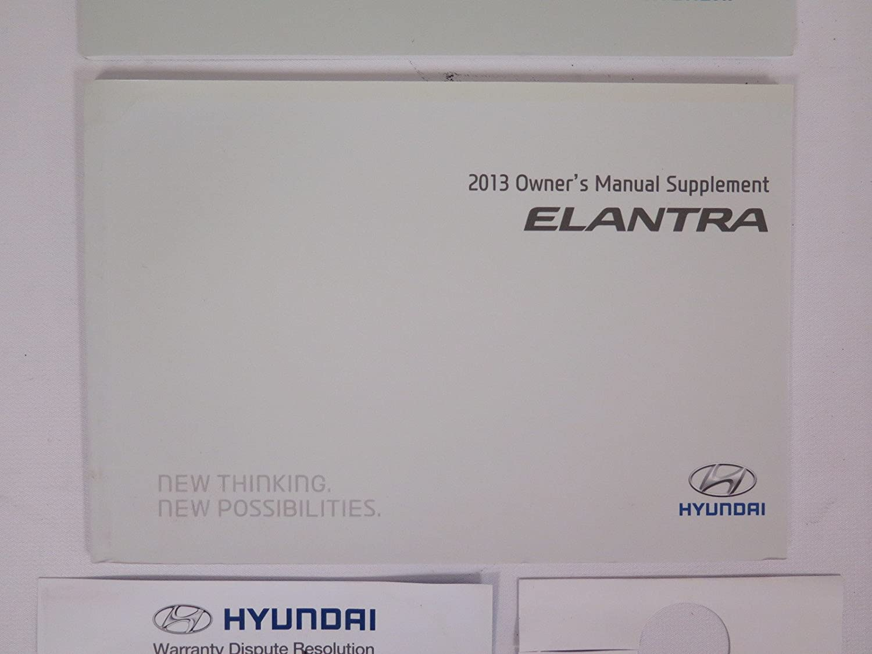Amazon.com: 2013 Hyundai Elantra GT Owners Manual Guide Book: Hyundai:  Automotive