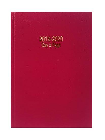 Precious 2018-2019 - Agenda escolar tamaño A4 con tapa dura y día por página, inglés, color DEEP PINK