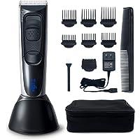 Hatteker Tondeuse à cheveux pour hommes Tondeuse Cheveux Tondeuse barbe tondeuse Électrique Professionnelle sans fil Ecran LED