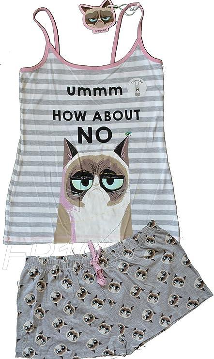 PRIMARK GRUMPY CAT - Pijama - para Mujer Gris Gris L ...