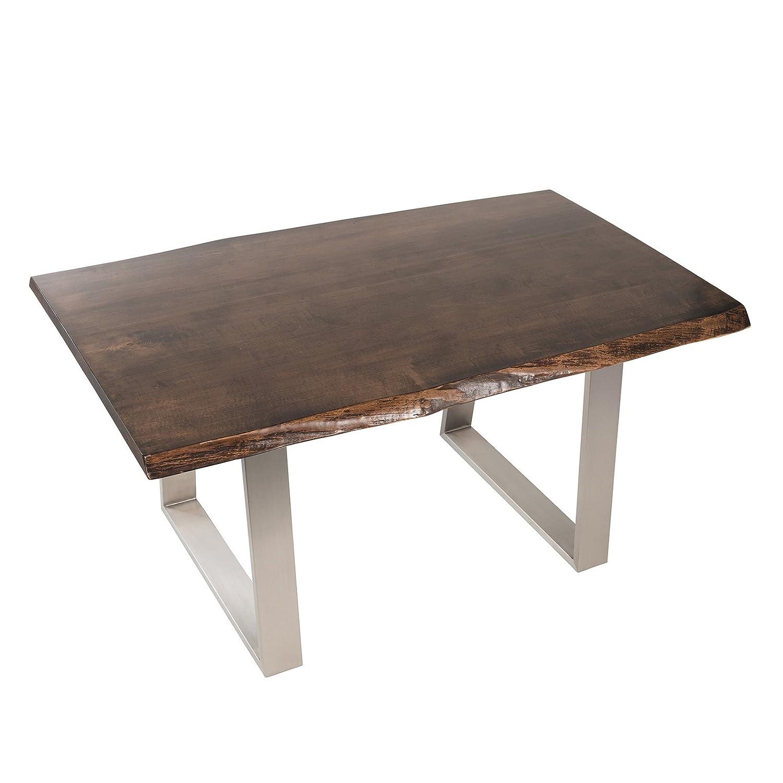 Amazoncom Live Edge Slab Walnut Dining Table With Metal Base