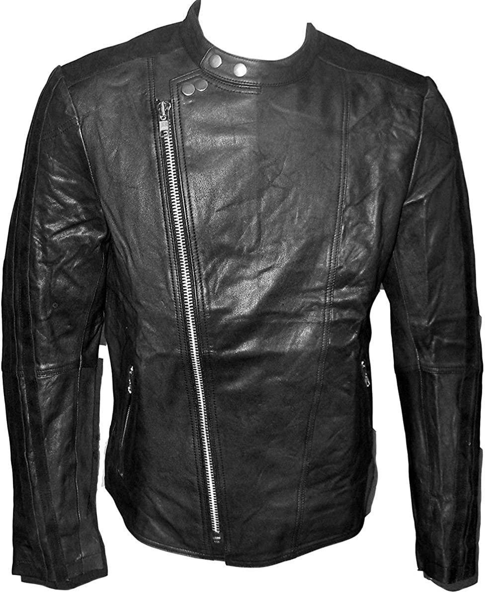 Billy Austins Mens Manhattan Leather Jacket Black